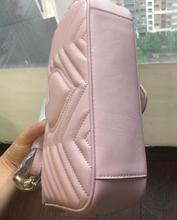 Neueste Art Berühmte Marken Frauen Handtaschen Hochwertige Echte Lederne Geometrische Muster Kette Schulter Taschen Flap Messenger Bags