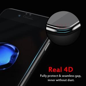 Image 2 - 4D Voor Iphone 7 Plus Beschermende Glas Volledige Cover (3D Bijgewerkt) gehard Glas Film Voor Iphone X 8 6S Plus Rand Full Screen Cover