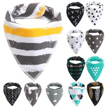 NEW Style Baby Bibs Bandana Black Triangle Bib For Girls Boys Toddler Infant Feeding Cotton Saliva Towel Scarf Baberos DS29(China)