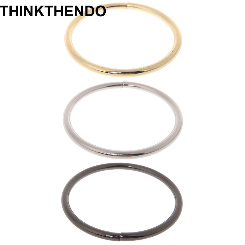 Metal O Ring Shaped Buckle For Bags Purses Backpack Straps Inner Diameter 7.5cm