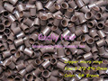 3.2*2.8*4.0mm 5#Brown 1000pcs copper flared ring easily locks/copper tube micro link/ring /bead for i tip hair extension