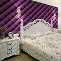 Oferta especial Frete grátis quarto Roxo marrom café bege saco macio papel de parede sofá ofhead fundo wallpaper 5.3m2
