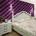 special offer Free shipping bedroom Purple brown beige coffee soft bag wallpaper sofa ofhead background wallpaper 5.3m2