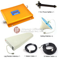 3G W-CDMA 2100Mhz Mobile Phone Signal Booster 3G Signal Repeater with Log Periodic Antenna / Ceiling Antenna / Power Splitter