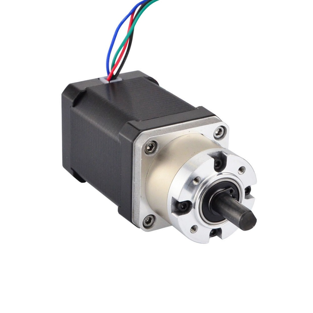 5:1 Planetary Gearbox 4-lead Nema 17 Stepper Motor 42 Motor Extruder Gear Stepper Motor L=60mm for CNC Milling Engraving Machine5:1 Planetary Gearbox 4-lead Nema 17 Stepper Motor 42 Motor Extruder Gear Stepper Motor L=60mm for CNC Milling Engraving Machine
