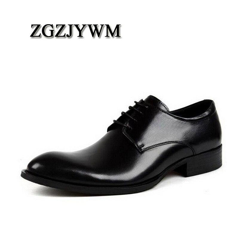 Zgzjywm brown Black brown Negócios Vestido Lace up De red Sapatos Fino Escritório Preto Couro Oxford Moda vermelho Bico Homens Nova Genuíno Handmade rIRpHqrw