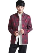 Shanghai Story Chinese traditional Jacket tang suit Shirt mandarin collar Blend wool fabric chinese marry jacket 2 color