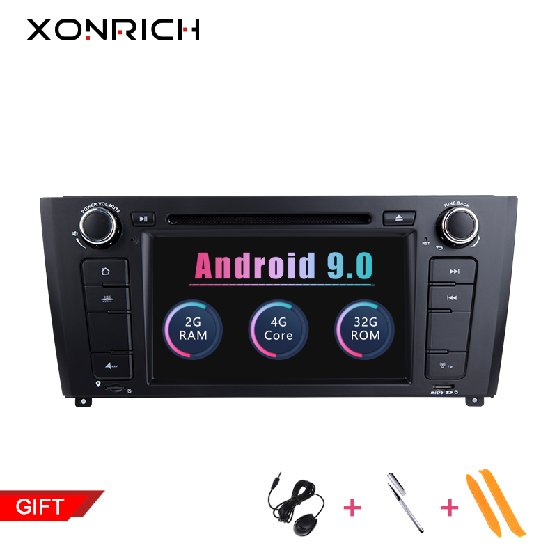 Xonrich 2GB RAM Quad Core 1 Din Android 9.0 autoradio lecteur DVD pour BMW E87 BMW 1 série E88 E82 E81 I20 GPS Navigation 4G Wifi