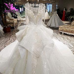 Image 5 - AIJINGYU לפרוע חתונה רומנטית שמלות כלה שמלת למכירה בריטניה ארוך שרוול סוז לבן פשוט שמלת תחרה חתונה שמלת יצרנית