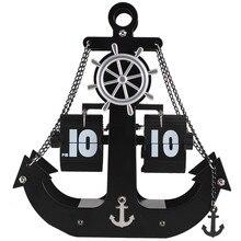 Настольные часы флип-часы Авто страницы металлический механизм Рабочий стол транспорт корабль номер дисплей кварцевые настенные часы украшение дома настольные часы
