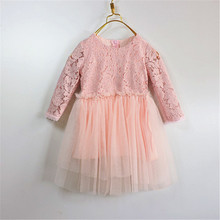 Christmas Kids Girls Lace tutu Dresses Baby Girl Princess Party Dress 2016 Babies Autumn Winter clothes children's clothing