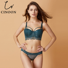 CINOON Brand Sexy Bra Set Push-up Bra 3/4 Cup Underwear Sexy Lace Lingerie Vs Bra For Women 70-85A B C Cup Free Shipping