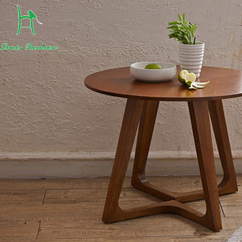 The Nordic idea contracted fashion round solid wood white oak leisure coffee table end table