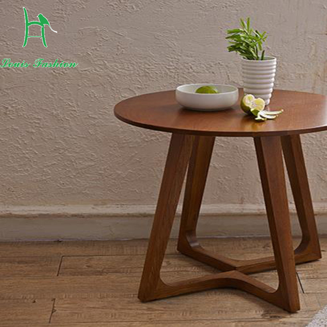 El Nordic idea contratado moda ocio mesa de centro redonda de madera ...