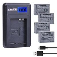 4Pcs NB 10L 7 4V 1300mAh NB 10L NB10L Camera Battery LCD USB Charger For Canon