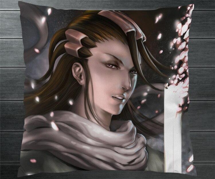 Anime Comics BLEACH Kuchiki Byakuya Fanart 40*40cm Two Side Pillowcase Pillow Case Cover Cosplay Otaku Gift BED/SOFA/CAR Decor