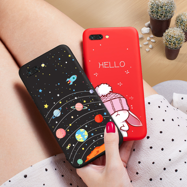 ASINA Cartoon Case For Huawei Honor 10 Silicone Case Cover Cute 3D Relief Shockproof Bumper For
