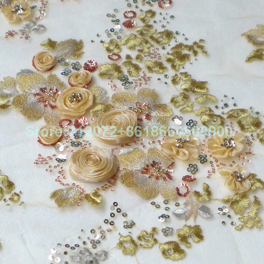 Aliexpress.com : Buy On sale Beige/ivory 3D rose beaded