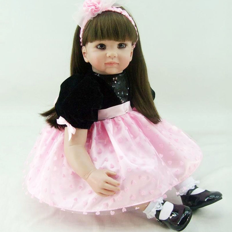 Real Soft Silicone Dolls for Girl 60cm Fashion Realistic Lifelike Lovely Birthday Gifts Doll with High-End Handmade Toy DollReal Soft Silicone Dolls for Girl 60cm Fashion Realistic Lifelike Lovely Birthday Gifts Doll with High-End Handmade Toy Doll