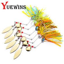 Купить с кэшбэком 1PS Fishing Lure Wobblers Spinners Spoon Bait For Pike Rotating composite sequins Artificial Baits Metal Spinnerbait Tackle TP8