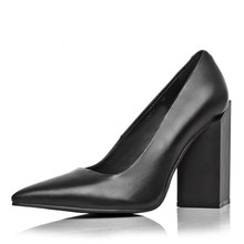 Ultra 11cm high heels shoes 100% real photo sheepskin pumps real leather shoes women ladies black white Sexy pumps for female