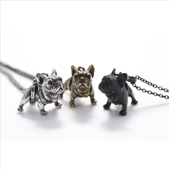 Boho Hippie Vintage French Bulldog Necklaces