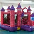 DHL FRETE GRÁTIS super Gigante dual slide combo bounce casa inflável castelo nylon bouncer inflável jumper de castelo