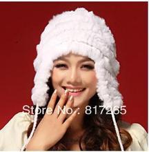 Бесплатная доставка Кролик волосы шляпа леди зима расстроен теплую шапку модные Мужчины и женщины шляпа 100% мех R58