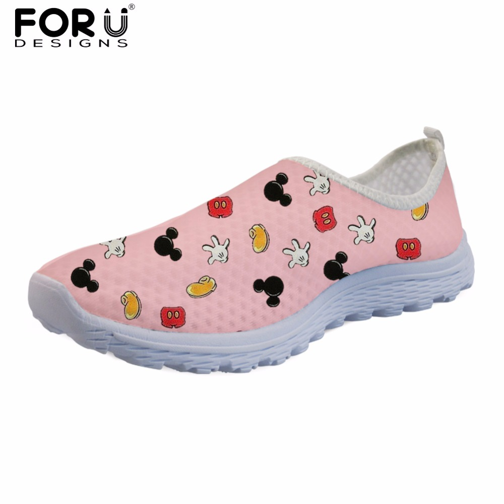 FORUDESIGNS Pink Women Light Weight Casual Shoes Fashion Summer Women's Sneakers Leisure Breathable Mesh Shoes for Female Shoes free shipping fashion loss weight women shoes spring summer autumn swing female breathable mesh shoes women casual shoes 2717w