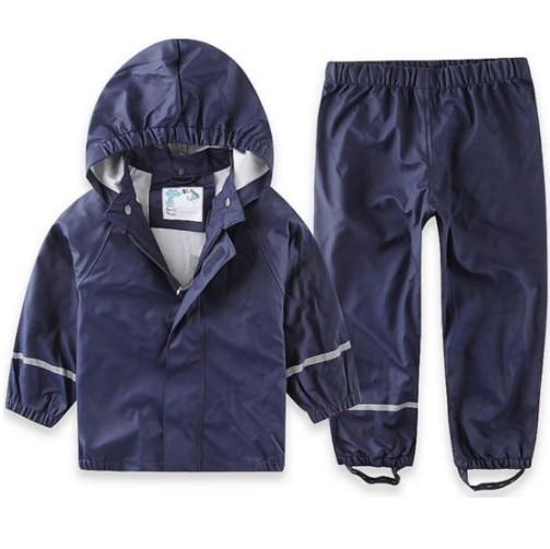 Spring Autumn children rainsuit waterproof rainpants overalls windproof 1-7year baby boys girls outdoor rainwear
