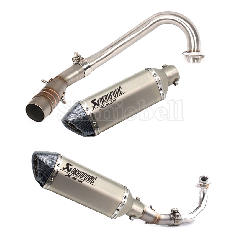 Akrapovic <font><b>exhaust</b></font> motorcycle <font><b>Xmax</b></font> <font><b>250</b></font> <font><b>Xmax</b></font> 300 Slip-On Modified <font><b>Exhaust</b></font> Pipe & Pipe Pink system For <font><b>YAMAHA</b></font> <font><b>Xmax</b></font> Scooters series image