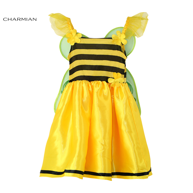 Charmian Baby Girl Bee Costume Children Suit Cosplay Performance Clothing Masquerade Party Halloween Costume Fancy Dress  sc 1 st  AliExpress.com & Charmian Baby Girl Bee Costume Children Suit Cosplay Performance ...