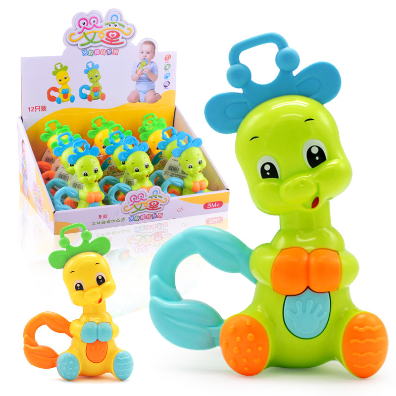 Baby Toys Handbell Newborn Boys Girls Infant Cute Animal Doll Handbells Develop Baby Intelligence Hand Bell Toys