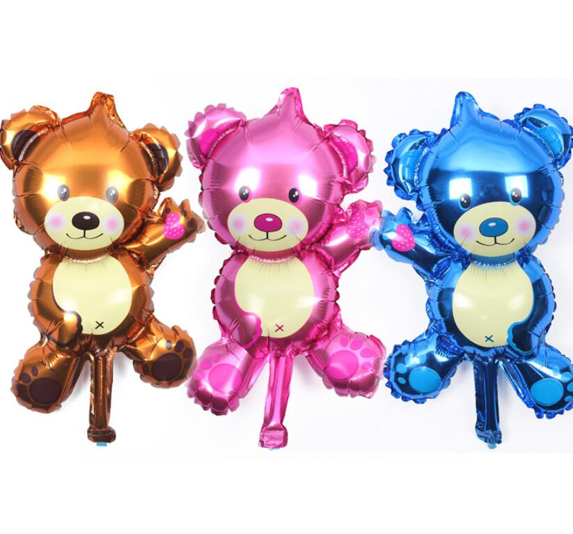 1pcs Cute cartoon bear balloon baby shower childrens birthday party decorating wedding supplies balloon toys