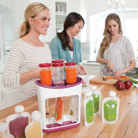 Baby Food Squeeze Station Baby Food Organization Storage Containers Set Fruit Puree Packing Machine Baby Food Maker