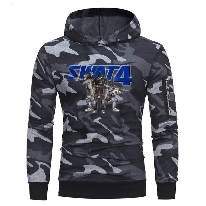 100% Vero Us Swat Stampa New Spring Mens Camouflage Felpe Moda Per Il Tempo Libero Pullover Fitness Giacca Felpe Sportswear Abbigliamento Per Migliorare La Circolazione Sanguigna