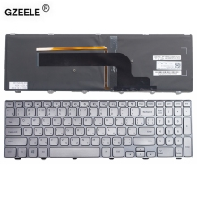 GZEELE NEW for Dell Inspiron 15 7000 7537 Laptop Keyboard WITH Backlit SILVER RU Keyboard 15-7000 Series 15-7537 P36F russian(China)