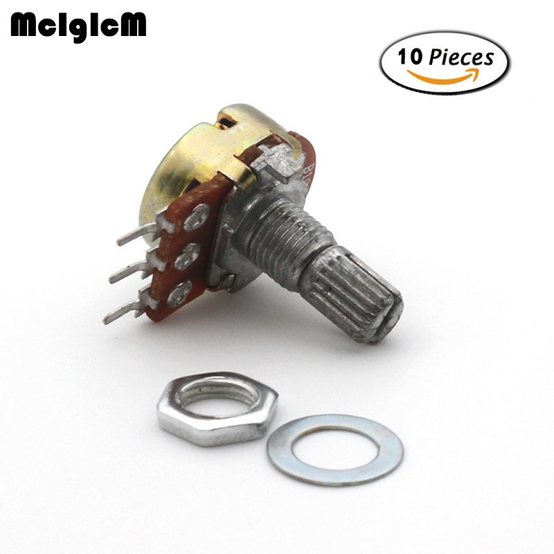 WH148 B10K Linear Potentiometer 15mm Shaft With Nuts And Washers Hot High Quality