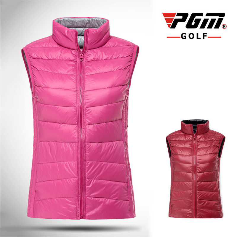 все цены на PGM Golf Sport Vest For Women White Duck Down Jacket Female Sleeveless Golf Sportswear Ultra Light Women's Warm Winter Golf Vest онлайн