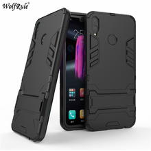 Huawei Honor 8X Cover Case Silicone Rubber Robot Armor Hard Back Phone for Kickstand Coque