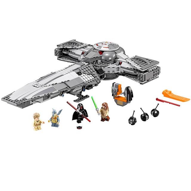 Star wars the force despierta sith infiltrator darth margus r2-d2 figura bloques de construcción ladrillos de juguete de regalo compatible con lego