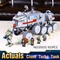 Nueva LEPIN 05031 933 Unids Star Wars Clone Turbo Tanque Modelo Kits de Construcción de Juguetes de Bloques de Ladrillos Compatibles Con El Regalo 75151