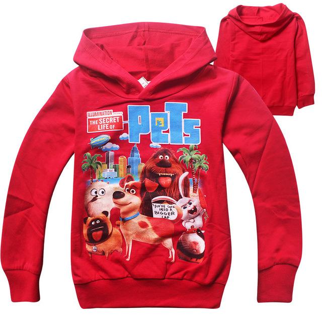 Popular do inverno outwear jaqueta com capuz meninos meninas casacos casacos casaco moda infantil das crianças a vida secreta dos animais de estimação clothing