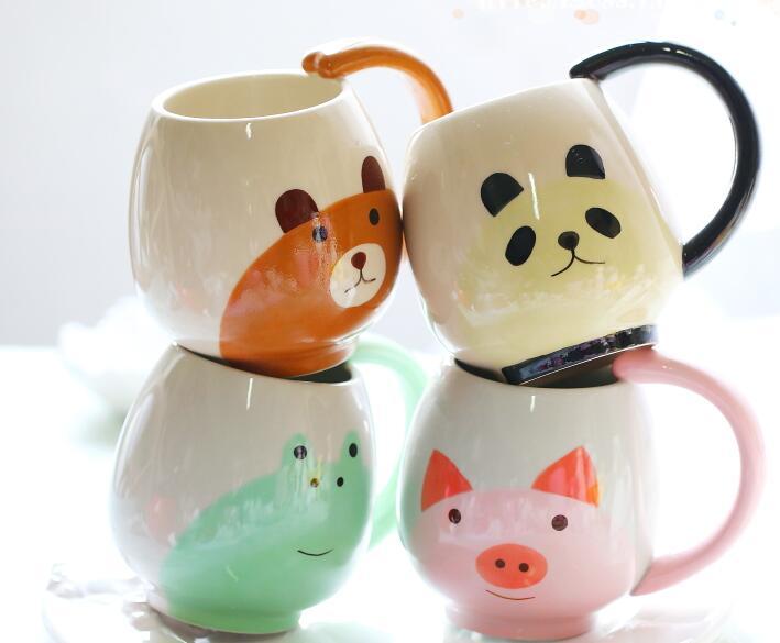 Cute pink pig panda <font><b>ceramic</b></font> <font><b>cup</b></font> Very nice <font><b>animal</b></font> <font><b>ceramic</b></font> mug <font><b>bear</b></font> Coffee <font><b>Cup</b></font> <font><b>Cartoon</b></font> frog mug