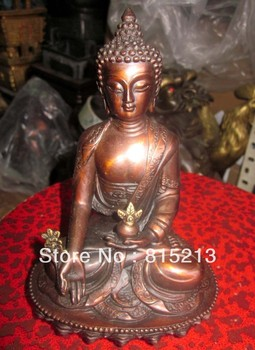 Wang 00013 Large Tibet Tibetan Bronze Medicine Buddha Statue