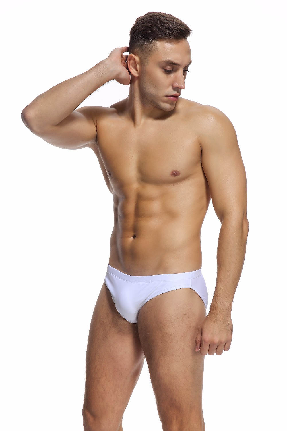 Free shipping Private customized BOYTHOR Men 39 s suit low waist male swimming trunks sexy tight swimwear bikini in Body Suits from Sports amp Entertainment
