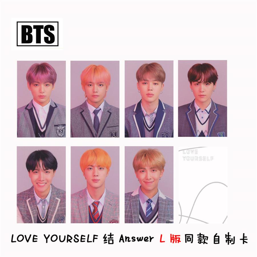 Beads & Jewelry Making Realistic Kpop Bts Love Yourself Answer L Version Autograph Photocard Bangtan Boys Paper Photo Cards 7pcs/set