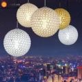 Modern Crystal Pendant Lamp Foyer Dining Room Hotel Room Loft Light DIA 15CM/20CM/30CM/40CM/50CM 110-240V Free Shipping