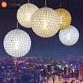 Pingente de cristal modernos lâmpada foyer sala de jantar do hotel quarto loft luz dia 15 cm/20 cm/30 cm/40 cm/50 cm 110-240 v free grátis