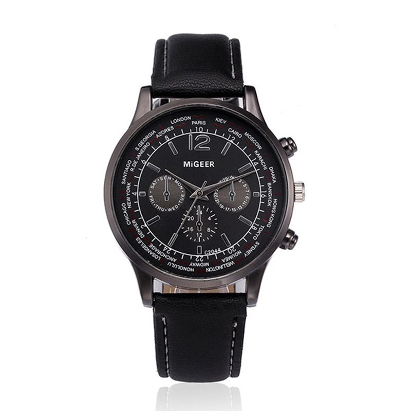 Retro Design Leather Band Analog Alloy Quartz Wrist Watch Sport Watches Luxury Male Clock Business Mens Wrist Watch Hodinky Gift